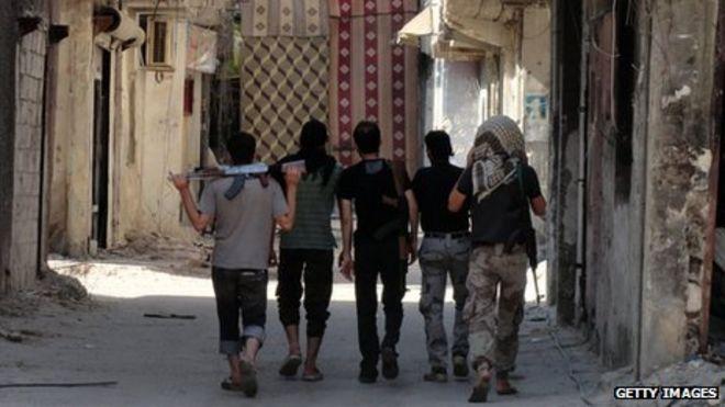 Мятежники в Дамаске в августе