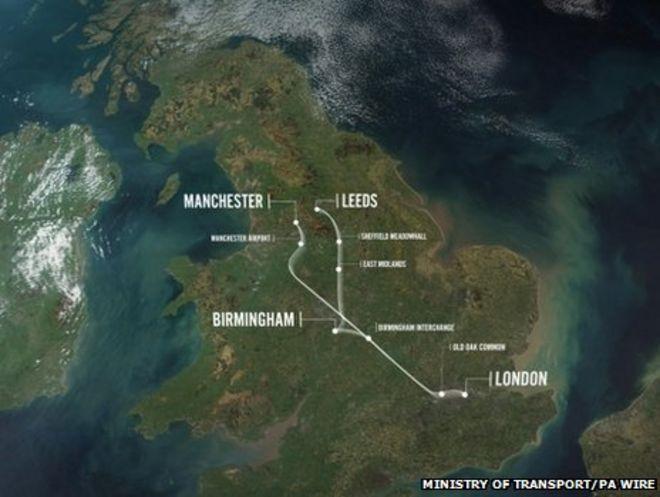 Карта HS2