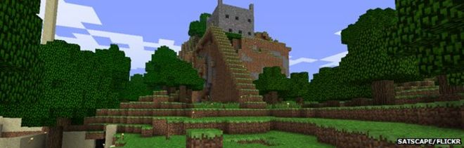 Microsoft pays 25bn for minecraft maker mojang bbc news minecraft castle publicscrutiny Images