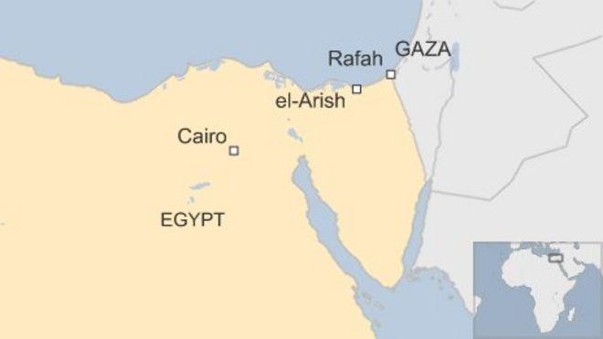 Egypt Sinai Bombing Kills Six Policemen Bbc News