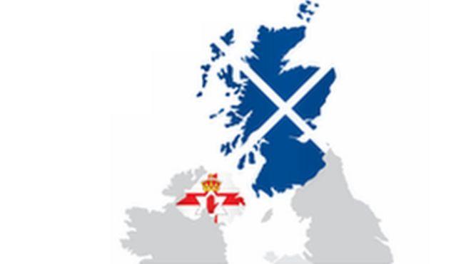 Map Of Ireland And Scotland.Northern Ireland People Keep Close Eye On Scottish Independence Poll
