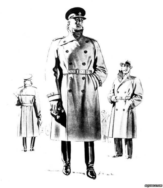 d32091cf5dbef Aquascutum advert for their Storm Coat from the 1940s