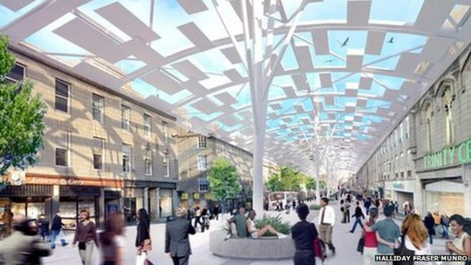 Aberdeen City Centre Master Plan Consultation Being Held Bbc News