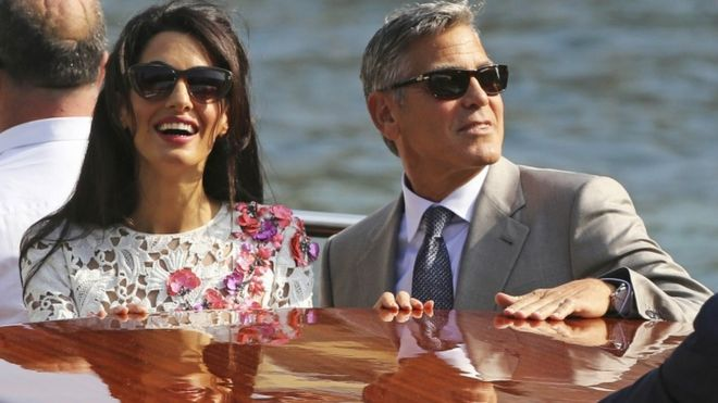 George Clooney and Amal Alamuddin marry in Venice - BBC News