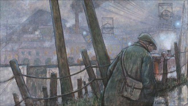 Пит-роуд с телеграфным столбом и огнями Нормана Корниша