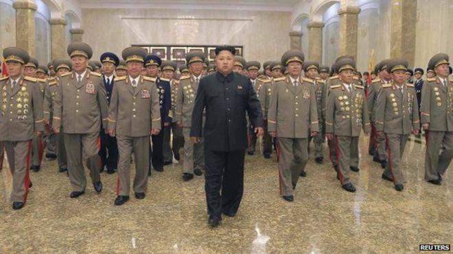 North korea where is kim jong un bbc news north korean leader kim jong un c visits the kumsusan palace of the sun thecheapjerseys Choice Image