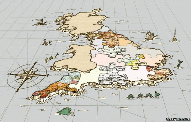 Detailed Map Of England Counties.The Awkward Jigsaw Of England S Boundaries Bbc News