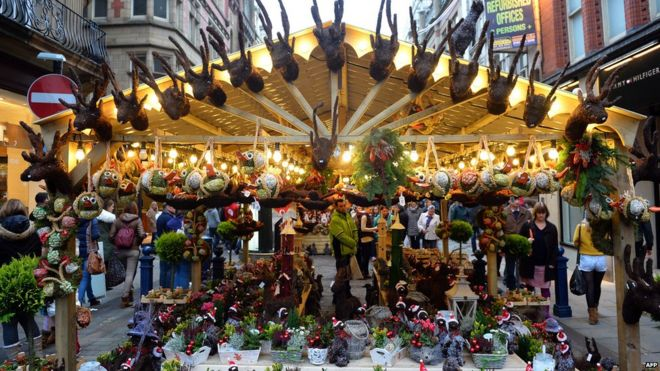 a stall at manchesters christmas market - Birmingham Christmas Market