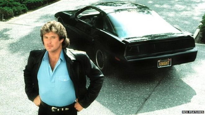 Six ways knight rider predicted the future bbc news david hasselhoff with kitt mozeypictures Images
