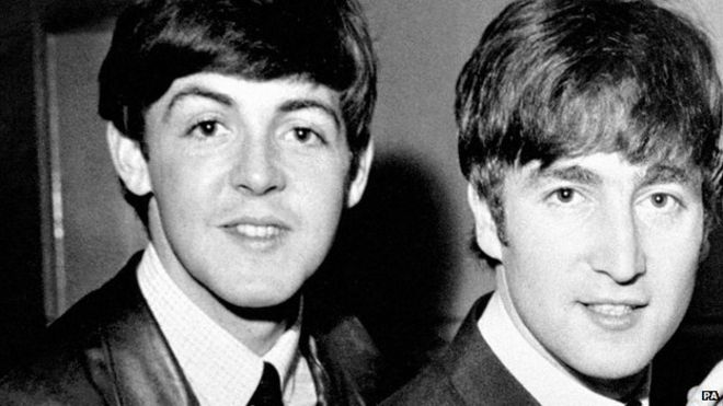 Paul McCartney And John Lenon In 1963