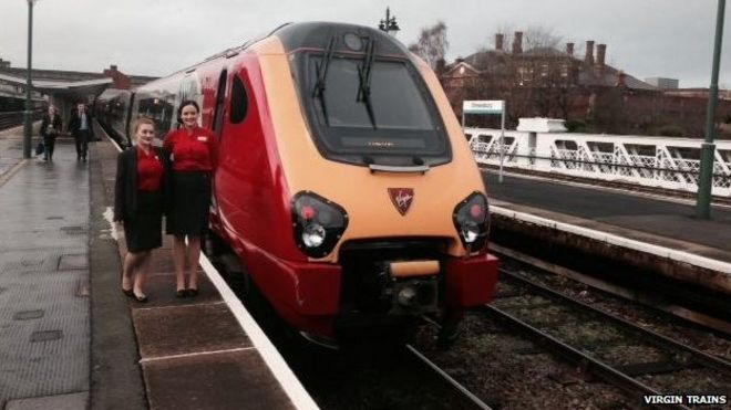 New Shrewsbury to London rail service begins - BBC News