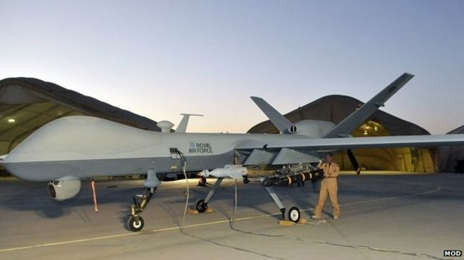 RAF Reaper Drone Attacks Islamic State Target In Iraq
