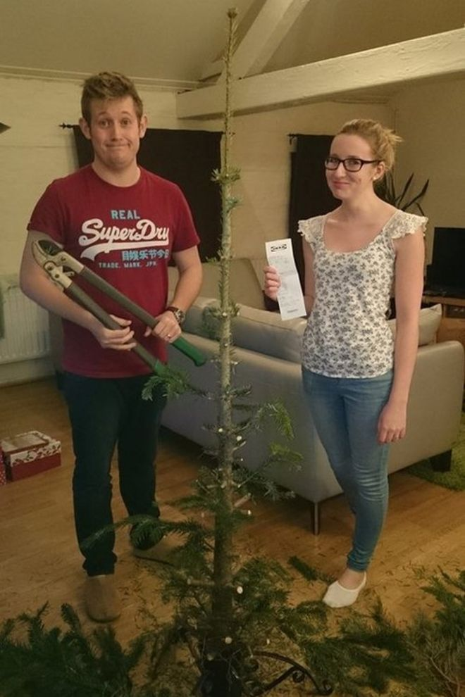 Christmas tree aphids invade Derby couple's home - BBC News
