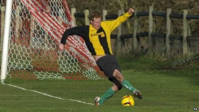 prince harry playing football - Football Christmas Eve