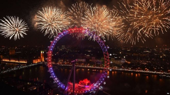 new year fireworks explode over london on 1 january 2015