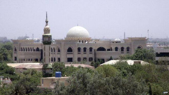 Photo of new presidential palace under constructions (June 2014)