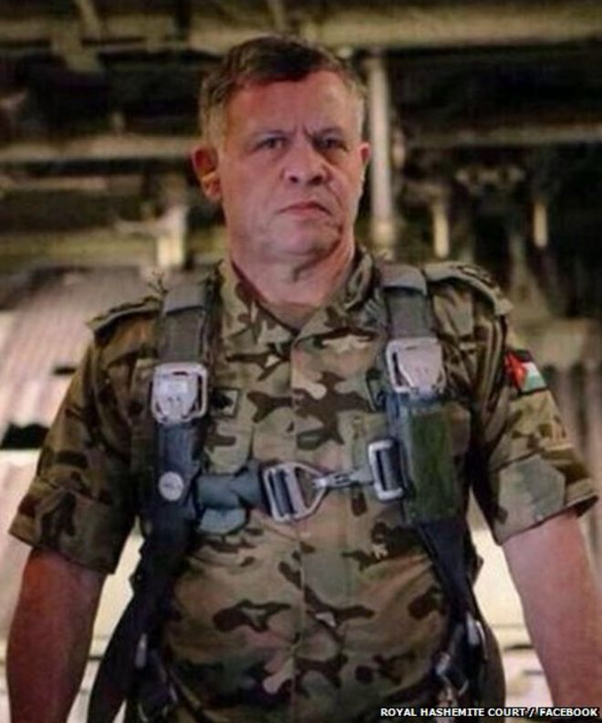 King Abdullah Of Jordan In Military Uniform