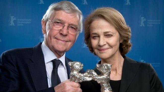 Сэр Том Кортни и Шарлотта Рэмплинг на Берлинском кинофестивале