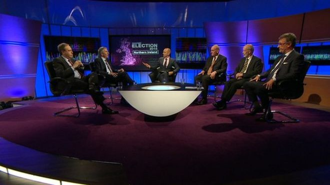 The Newsnight election debate from Northern Ireland was hosted by Evan Davis