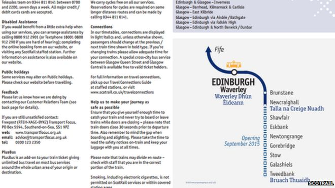 Borders to Edinburgh railway timetable published - BBC News