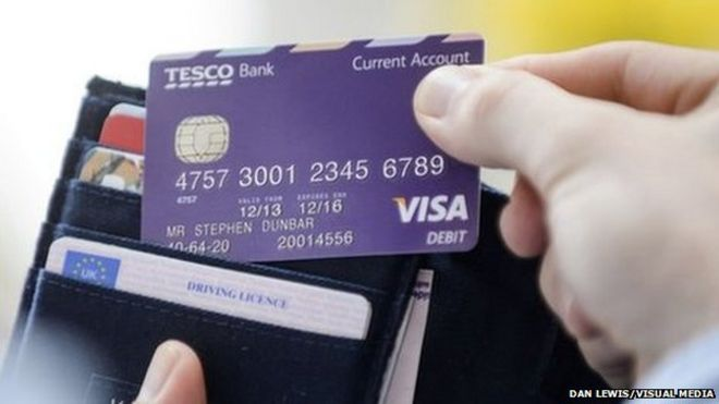 Tesco bank boosts customer numbers and profits bbc news tesco bank card colourmoves
