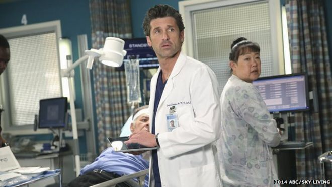 Patrick Dempsey makes dramatic exit from Grey\'s Anatomy - BBC News