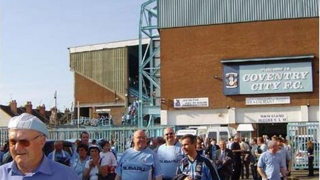 78dd67079a Image caption On their last day at Highfield Road, Coventry City put six  past Derby County. Ten years ago ...