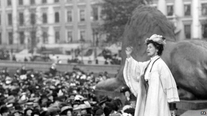 Эммелин Панкхерст в 1908 году