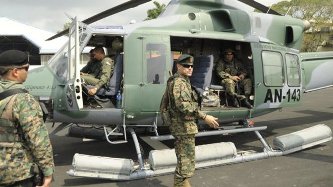 Frank Abrego On Board A Helicopter On 16 April 2015 Image ...