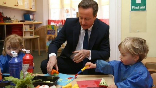 David Cameron during a visit to a nursery on 1 June 2015