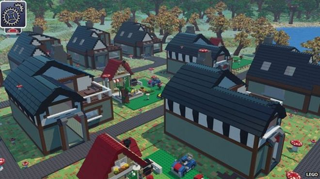 Lego takes on minecraft with video game bbc news screen grab from lego worlds publicscrutiny Images