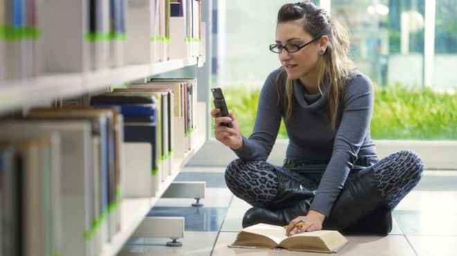 Image result for mobile phone studying