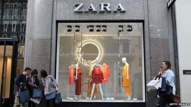 Zara owner profits up on sales surge - BBC News 0c565369ef