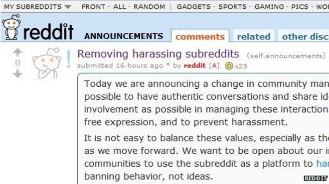 Reddit shuts down 'harassing' forums - BBC News