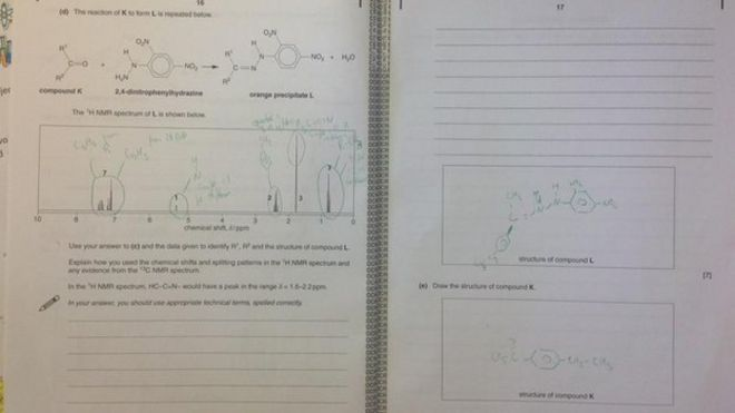 Tough A-level chemistry exam sparks Twitter tears - BBC News