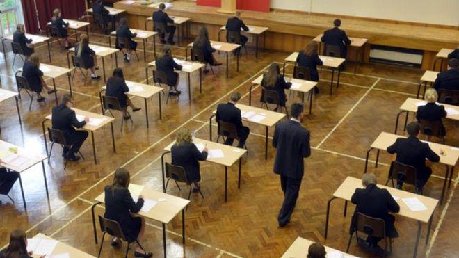 GCSE exam room