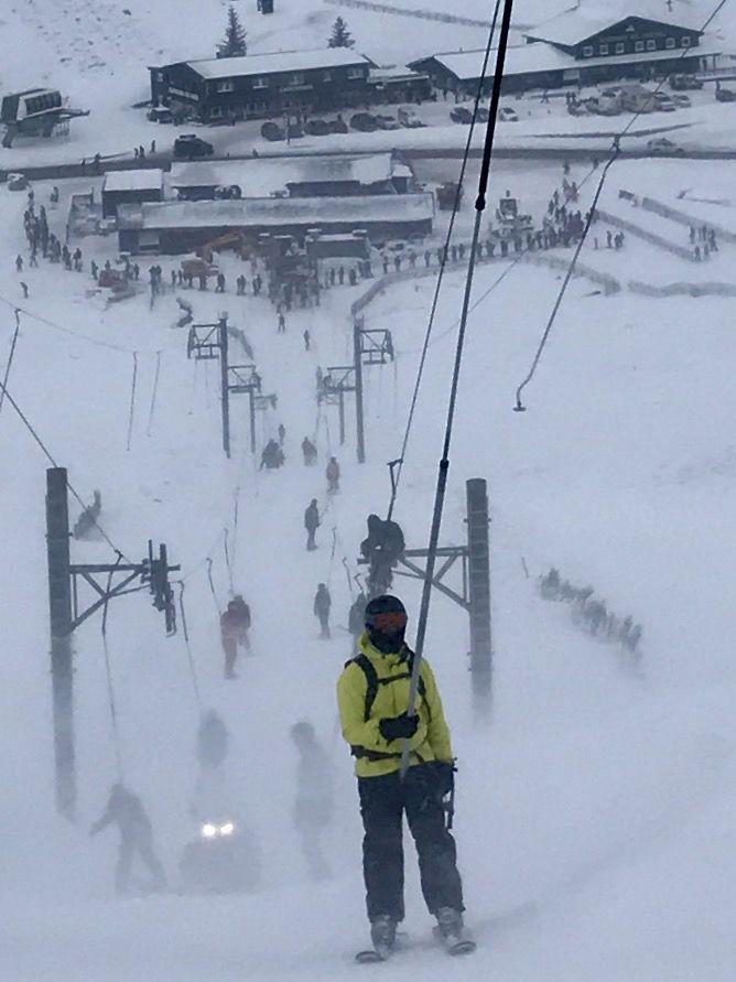 Skiing on Glenshee