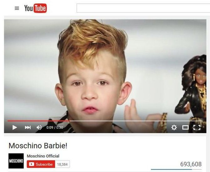 The ad for Moschino Barbie currently going viral