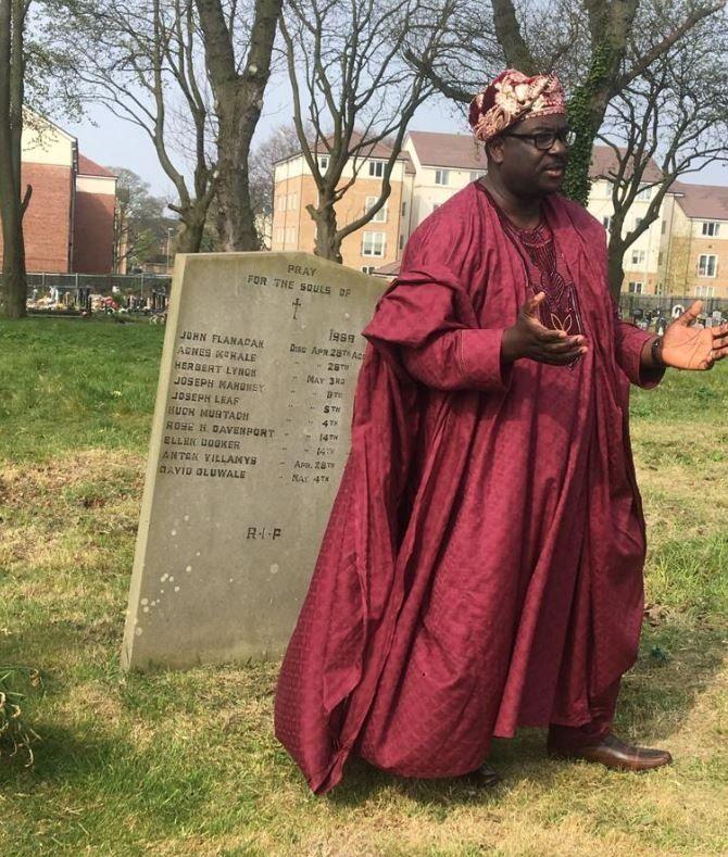 The ceremony at David Oluwale's graveside