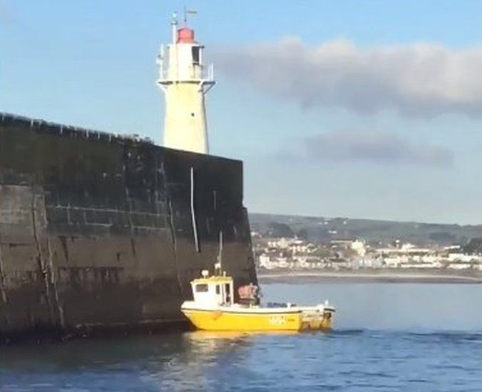 Crashed fishing vessel