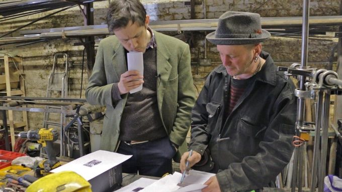 Ben Russell, curator, and Giles Walker discuss how to build Eric.