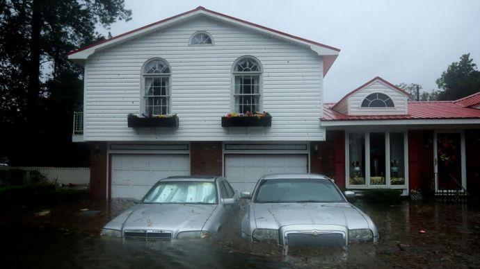 Inundaciones en New Bern, Carolina del Norte.