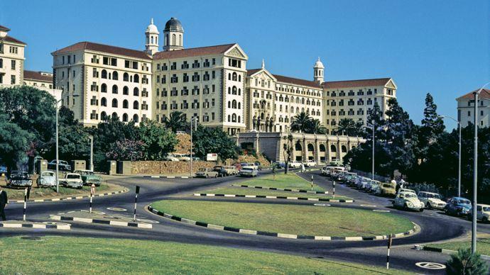 El hospital Groote Schuur (GSH) en Ciudad del Cabo, Sudáfrica, en 1969.