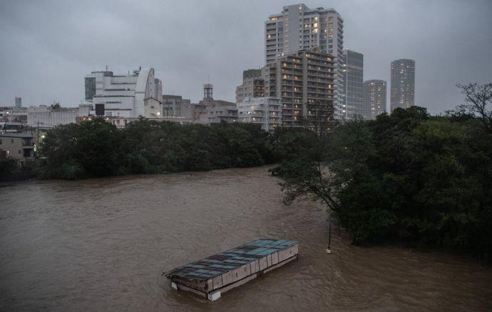 Inundaciones en Tokio.