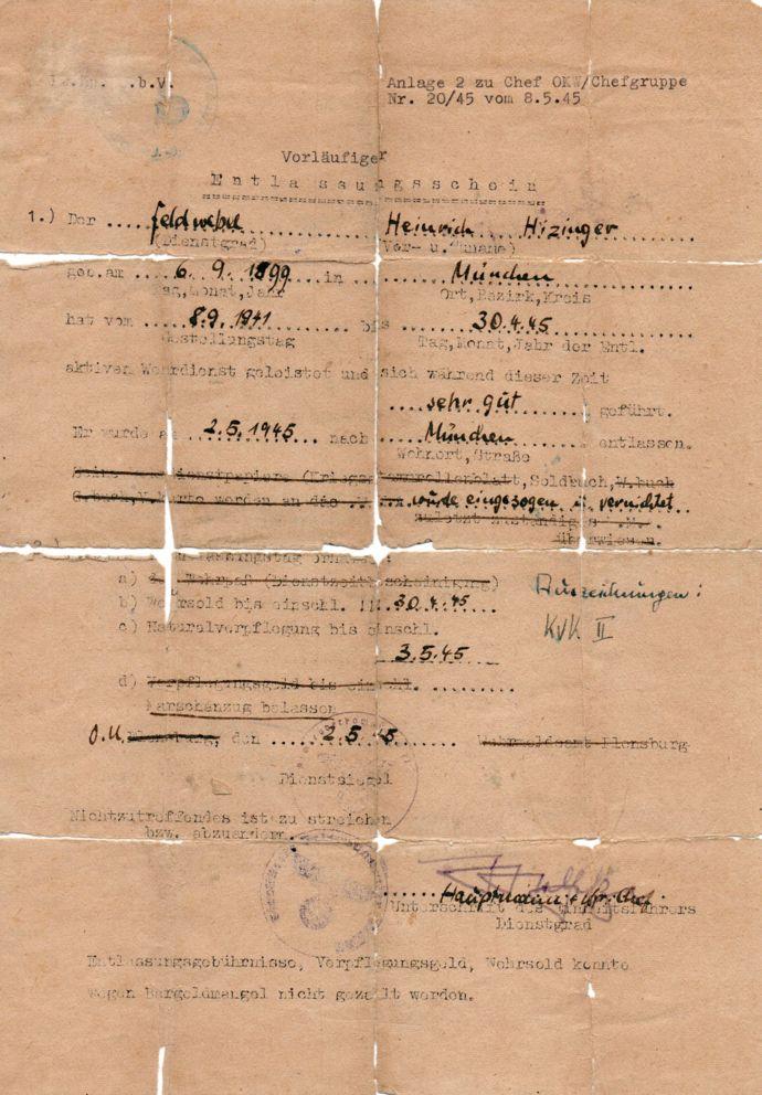 El documento que presentó Himmler
