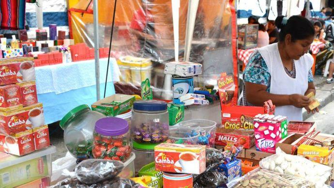 Comerciante boliviana.
