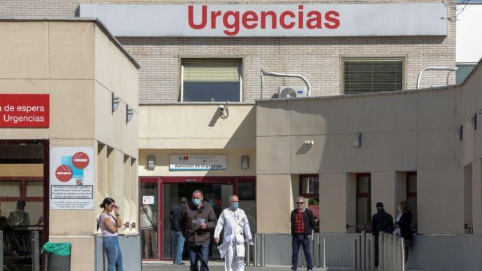 Entrada de la sala de emergencias de un hospital madrileño.