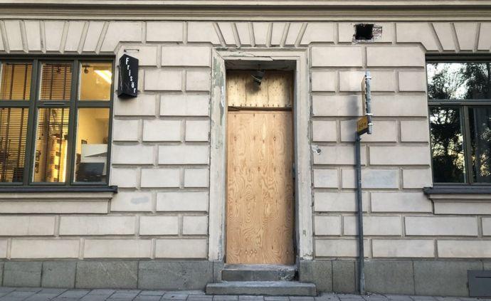 Edificio atacado en el área de Sodermalm, en Estocolmo