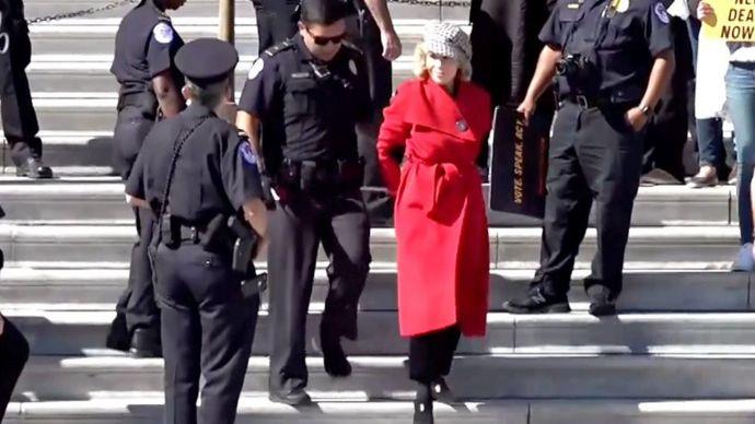 Arresto de Jane Fonda en Washington DC