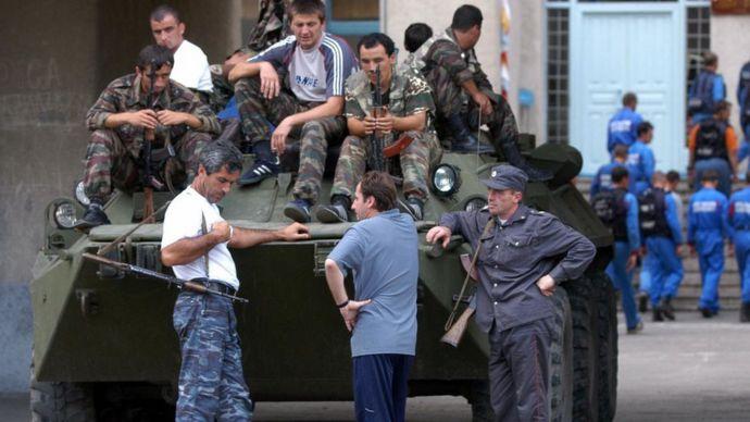 Soldados de Osetia.